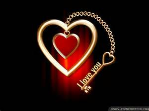 I love you heart and key